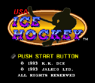 Screenshot Thumbnail / Media File 1 for USA Ice Hockey (Japan) (Rev A)