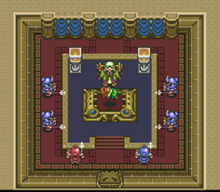 Screenshot Thumbnail / Media File 1 for Zelda no Densetsu - Kamigami no Triforce (Japan) (Rev B)