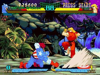 Screenshot Thumbnail / Media File 1 for Marvel Super Heroes VS Street Fighter