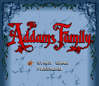 Screenshot Thumbnail / Media File 1 for Addams Family, The (USA) (Beta) (Alt)