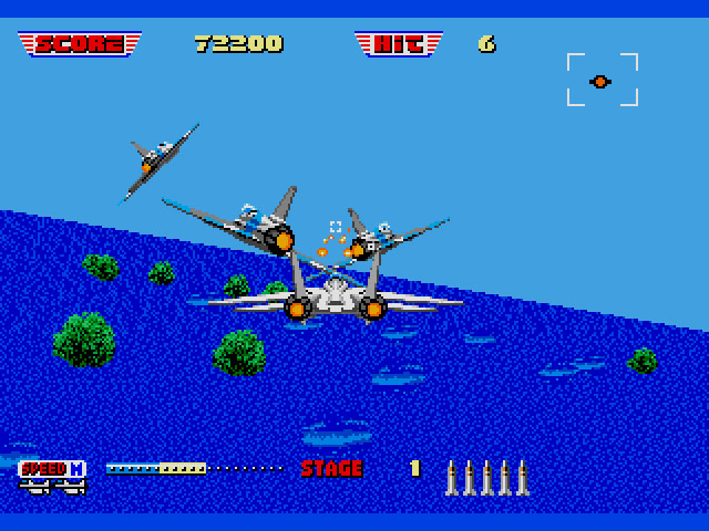 mission escorte shoot em up after burner 2 sur mega drive