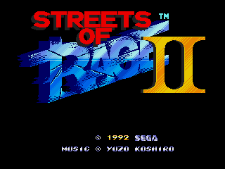 Screenshot Thumbnail / Media File 1 for Bare Knuckle II - Shitou heno Chingonka ~ Streets of Rage II (Japan, Europe)