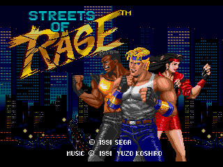 Screenshot Thumbnail / Media File 1 for Bare Knuckle - Ikari no Tetsuken ~ Streets of Rage (World) (Rev A)