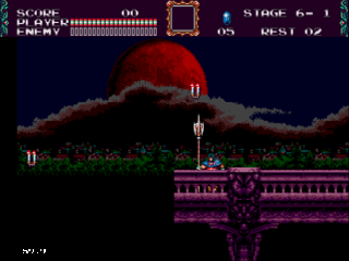 Screenshot Thumbnail / Media File 1 for Castlevania - The New Generation (Europe) (Beta)