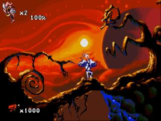 Screenshot Thumbnail / Media File 1 for Earthworm Jim 2 (Europe)