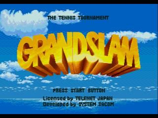 Screenshot Thumbnail / Media File 1 for GrandSlam - The Tennis Tournament (Europe)