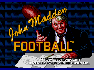 Screenshot Thumbnail / Media File 1 for John Madden Football (USA, Europe)