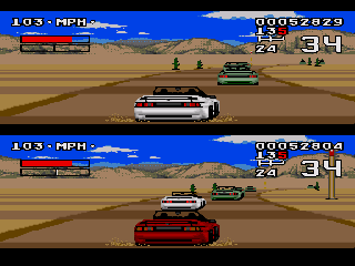 Screenshot Thumbnail / Media File 1 for Lotus Turbo Challenge (USA, Europe)