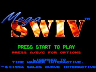 Screenshot Thumbnail / Media File 1 for Mega SWIV (Europe)