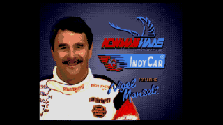 Screenshot Thumbnail / Media File 1 for Newman Haas Indy Car Featuring Nigel Mansell (World)