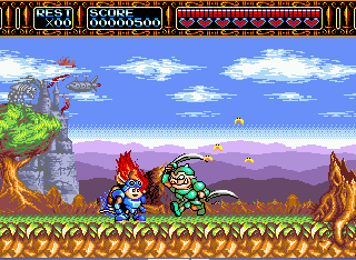 Screenshot Thumbnail / Media File 1 for Rocket Knight Adventures (Japan)