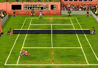Screenshot Thumbnail / Media File 1 for Sampras Tennis 96 (Europe) (J-Cart)