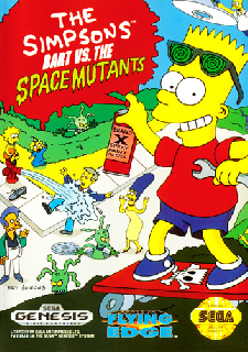 Screenshot Thumbnail / Media File 1 for Simpsons, The - Bart Vs The Space Mutants (USA, Europe)