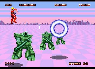 Screenshot Thumbnail / Media File 1 for Space Harrier II (World)