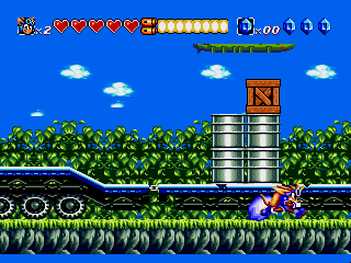 Screenshot Thumbnail / Media File 1 for Sparkster - Rocket Knight Adventures 2 (Japan)