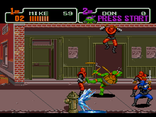 Screenshot Thumbnail / Media File 1 for Teenage Mutant Hero Turtles - The Hyperstone Heist (Europe)