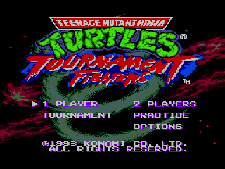 Screenshot Thumbnail / Media File 1 for Teenage Mutant Ninja Turtles - Tournament Fighters (Japan)