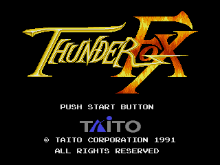 Screenshot Thumbnail / Media File 1 for Thunder Fox (Japan)