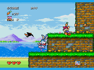 Screenshot Thumbnail / Media File 1 for Tiny Toon Adventures - Buster's Hidden Treasure (USA)
