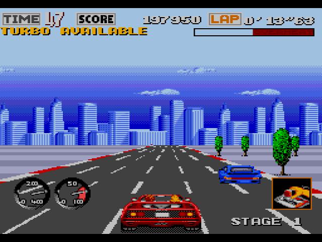 turbo outrun mega drive