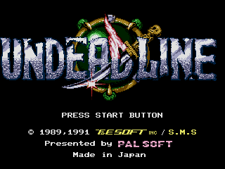 Screenshot Thumbnail / Media File 1 for Undead Line (Japan)
