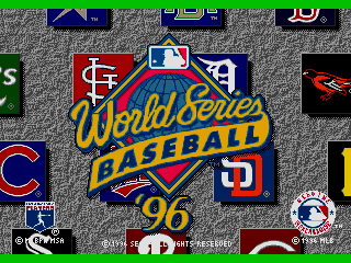Screenshot Thumbnail / Media File 1 for World Series Baseball '96 (USA)