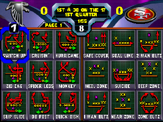 Screenshot Thumbnail / Media File 1 for NFL Blitz 2000 (USA)