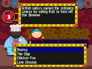 Screenshot Thumbnail / Media File 1 for South Park - Chef's Luv Shack (Europe)