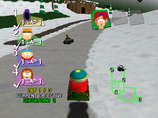 Screenshot Thumbnail / Media File 1 for South Park Rally (Europe)