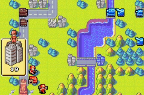 Screenshot Thumbnail / Media File 5 for Advance Wars (U)(Mode7)