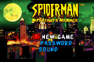 Screenshot Thumbnail / Media File 1 for Spider-Man - Mysterio's Menace (U)(Mode7)