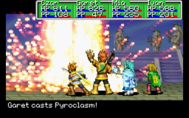 Resultado de imagen para golden sun gameplay