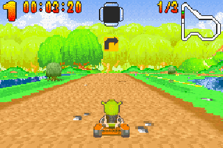 Screenshot Thumbnail / Media File 1 for Shrek - Swamp Kart Speedway (U)(Venom)