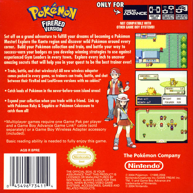Pokemon Fire Red UIndependent ROM