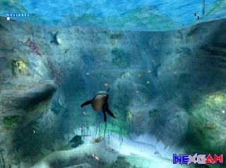 Screenshot Thumbnail / Media File 1 for ECCO the Dolphin - Defender of the Future (USA)(En,Fe,De,Es)