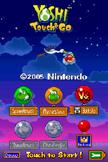 Screenshot Thumbnail / Media File 1 for Yoshi Touch & Go (U)(Trashman)