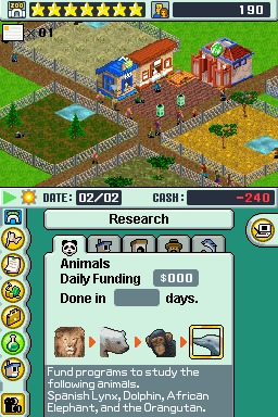Zoo Tycoon (E)(Legacy) ROM < NDS ROMs   Emuparadise