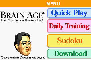 Screenshot Thumbnail / Media File 1 for Brain Age - Train Your Brain in Minutes a Day! (U)(Trashman)