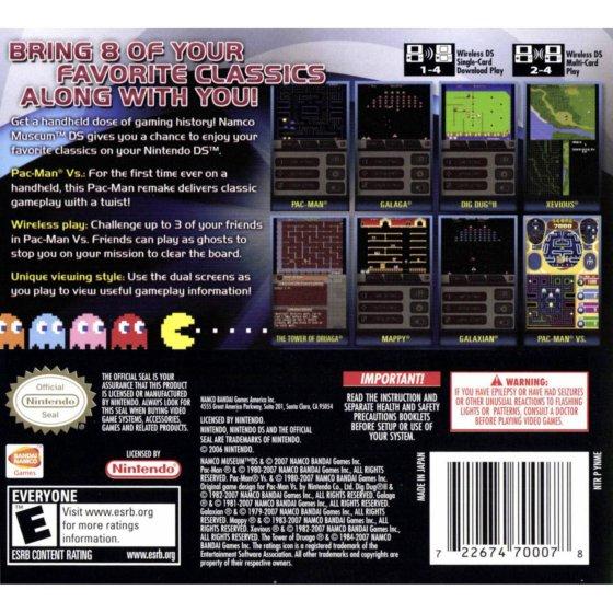 Namco Museum DS (U)(XenoPhobia) ROM < NDS ROMs   Emuparadise