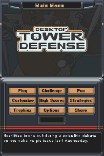 Screenshot Thumbnail / Media File 1 for Desktop Tower Defense (US)(1 Up)