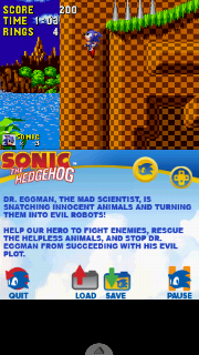 Screenshot Thumbnail / Media File 1 for Sonic Classic Collection (DSi Enhanced) (U)