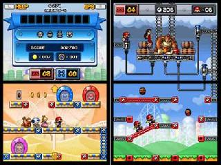 Screenshot Thumbnail / Media File 1 for Mario vs. Donkey Kong - Totsugeki! Mini-Land (DSi Enhanced) (J)