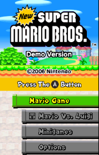 Screenshot Thumbnail / Media File 1 for new super mario bros. (kiosk demo) (e)(wrg)