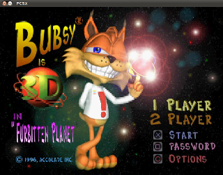 Screenshot Thumbnail / Media File 1 for Bubsy 3D (E)