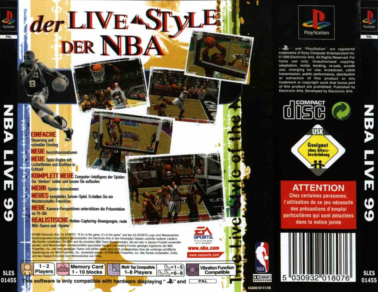 NBA Live 99 (G) ISO < PSX ISOs | Emuparadise
