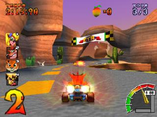 Screenshot Thumbnail / Media File 1 for Crash Bandicoot Racing (J)
