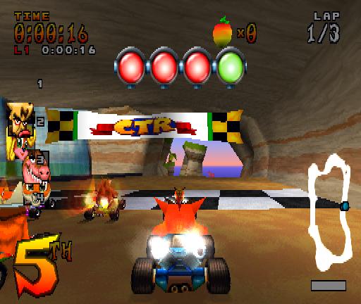 Crash Bandicoot Car Racing