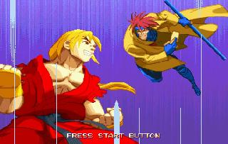 Screenshot Thumbnail / Media File 1 for X-Men Vs Street Fighter (J)