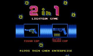 Screenshot Thumbnail / Media File 1 for 2 in 1 Lightgun Game - Tough Cop + Super Tough Cop (Asia) (Unl)
