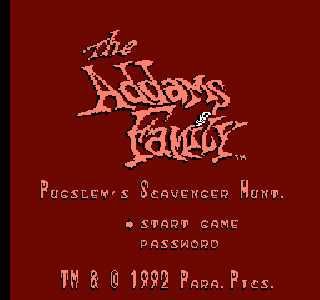 Screenshot Thumbnail / Media File 1 for Addams Family, The - Pugsley's Scavenger Hunt (Europe) (Beta)